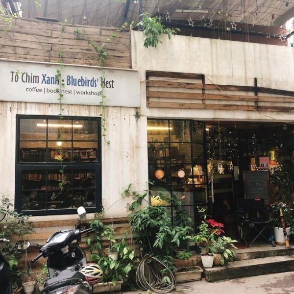 Cà phê sách Hà Nội có tên Tổ Chim Xanh